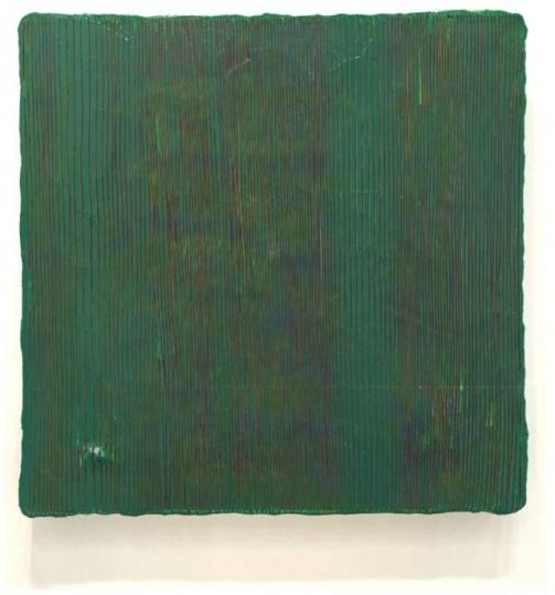 鞠婷《珍珠 100715》 95×95cm 木板丙烯 2015