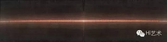 田卫 《晨之二》 34.5×137cm 宣纸水墨、矿物质色、水彩 2015