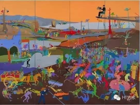 缪晓春 《死亡胜利》 300×400cm 亚麻布面油画 2015