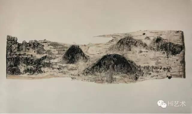 刘政昕 《201401-2》 60×100cm 布面油画 2014