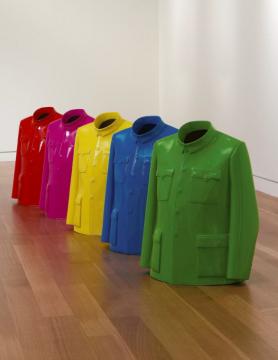 隋建国 《衣钵 》(五件一组) 63.5×48.2×30.4cm×5 喷漆玻璃纤维 2006 流拍