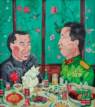 刘炜 《革命家庭系列:晚宴》 183×163cm 布面油画  1992  成交价:1746万港元