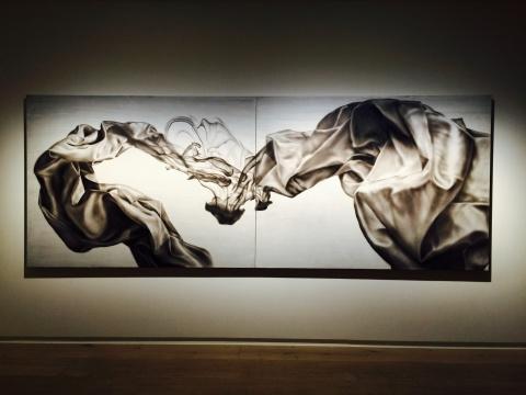 冯一尘2015年布面油画作品《沉浮之十九》