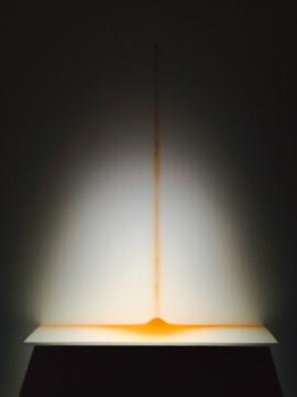 文豪2012年作品《轻轻的合上眼睛,我感觉到了她的存在》 红色砖粉