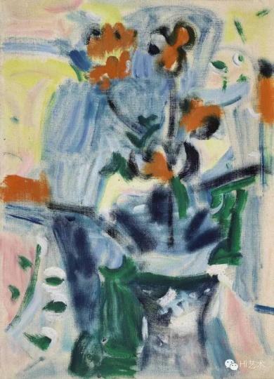 Lot1009 吴大羽《无题115》 54.3×39.1cm 布面油画 约1960 估价:450至650万港元
