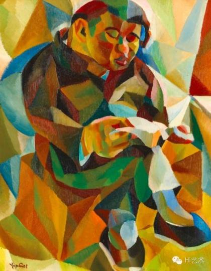Lot1030 朱沅芷《正在阅读的男子》 59×47cm油画木板 1926-1927 估价:400至700万港元