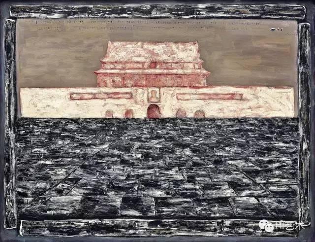 Lot1076 张晓刚《天安门3号》100×129cm布面油画 1993 估价:1800至2500万港元