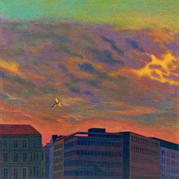 Lot923 刘野 《窗外》 45×45cm 布面油画 1992 估价: 50-60万