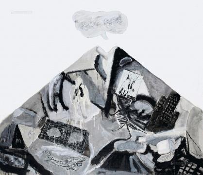 尚扬《95大风景—4》 170x200cm 布面油画 1995 成交价:552万元