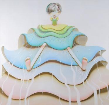 陈可《九层塔》 200x200cm 布面油画 2005  成交价:57.5万元