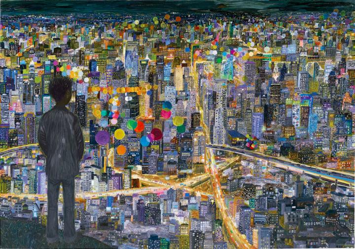 欧阳春  《孤独症》 260×370cm 布面油画 2012