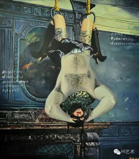 耿旖旎 《Mr. S被吊》170x150cm布面油画2011