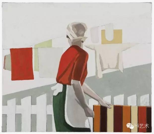 刘晓辉 《家务练习-清扫》 130×150cm 布面油画 2015