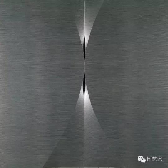 刘文涛 《无题》 200×100cm×2 布面铅笔 2009