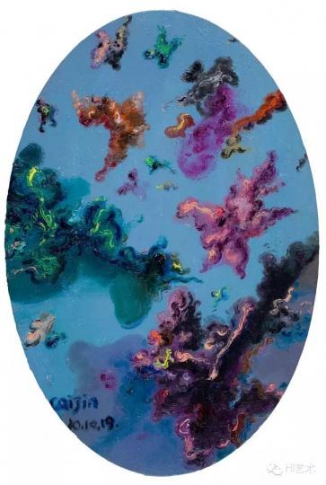 蔡锦 《风景29》 30×20cm 布面油画 2010