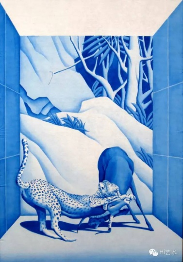 宋陵 《野生动物5号》 130X90cm 纸本水墨 2015
