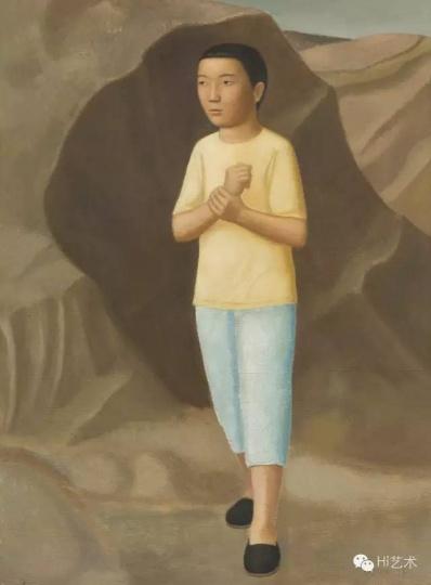 段建伟 《少年》 135×100cm 布面油画 2014