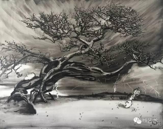 陆超 《别处》 120 x 150 cm 布面油画 2014
