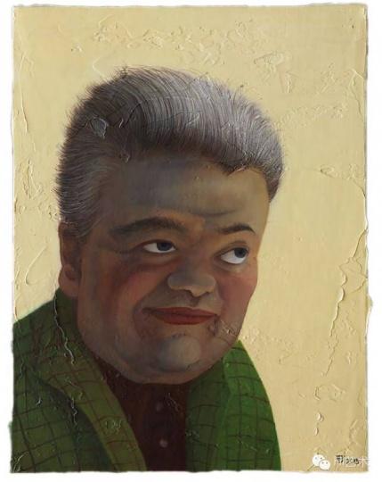 陈可 《老年迪耶戈》 30 × 40 cm 布面油画 2015