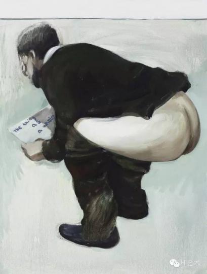 翟倞《艺术问题》100x80 cm布面油画2015