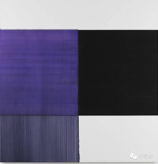 卡勒・英纳斯 《Exposed Painting Dioxaine Violet》180x175cm 油彩亚麻布 2015