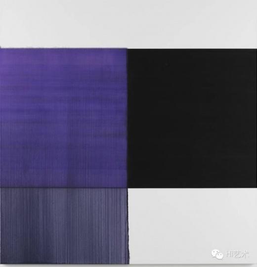 卡勒・英纳斯 《Exposed Painting Dioxaine Violet》180x175cm 油彩亚麻布 2015
