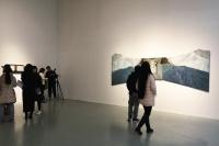 """绘画除了点线面 还有""""维度与轨迹""""   80后艺术家刘玉洁首在京个展,庞茂琨,徐累,刘玉洁"""