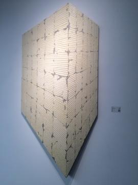 蔡磊 《8.82平米》 201×106cm 布面丙烯 2015