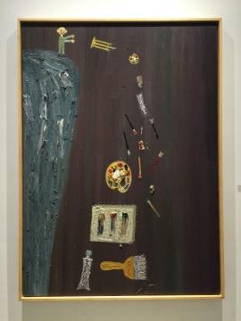 欧阳春 《丢弃绘画三》 250×180cm 布面油画 2006