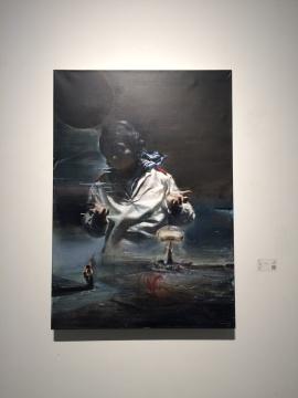 贾蔼力 《无题》 132-98cm 布面油画 2012-2014