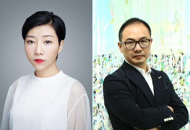 刘秀仪 OCAT深圳馆艺术总监(左)、杨锋 收藏家(右)
