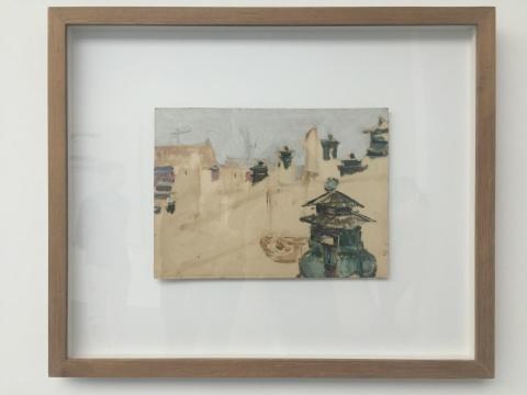 《香炉》 20×27cm 纸上油画 1976