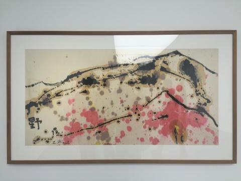 《EXPE5》 70×139cm 纸上油画 1981