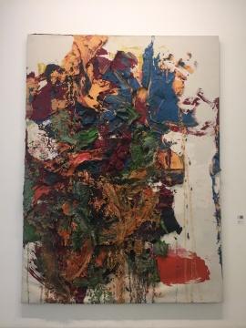 朱金石 《颜色飞行物》 300×220cm 布面油画 2007