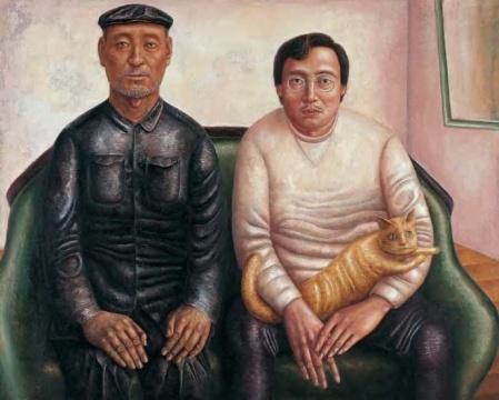 韦尔申 《父与子》138×174cm 油画 2000