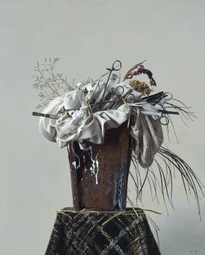 冷军《香花与毒草》 80.5×65.5cm 布面油画 1997 成交价:862.5万元