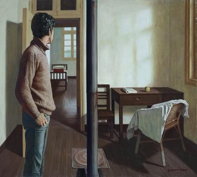 袁庆一《春天来了》 170×189cm 布面油画 1984 成交价:2127万元
