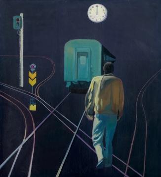 徐进《零点》200×180cm 布面油画 1985 成交价:368万元