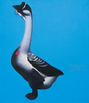 李山《胭脂系列——每星期的第7天:62号》150×130.5cm 布面油画 1994 成交价:207万元