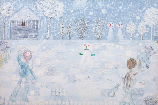 欧阳春 《冬天N0.2》 200×301cm 布面油画 2004 成交价:69万元