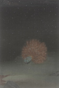 郝量 《锦雪图》 73.2×50.5cm 绢本重彩 2014