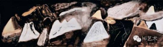 尚扬 《蛇年风景》 118×406cm 布面油画、丙烯 2001 成交价:1242万元
