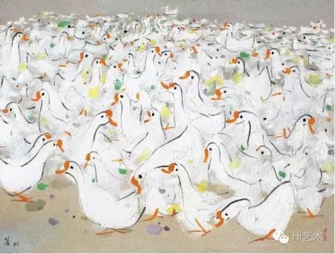 吴冠中 《乡音》  61×80.5cm 布面油画 1993 成交价:2127.5万元