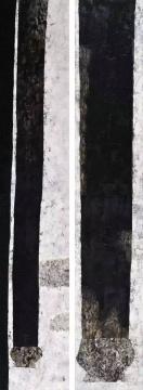 王怀庆 《立定1&2》 400×70cm×2 布面油画 2006 成交价:2323万元