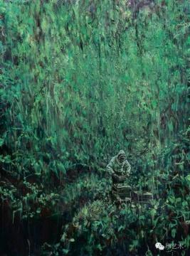 罗荃木 《养蜂人》 150×110cm 布面油画 2015 成交价:20.7万元