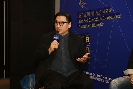 第三届深圳独立动画双年展 总策展人 在新闻发布会上讲话