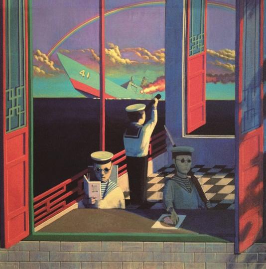 刘野 《失去平衡》 65×65cm 布面油画 1995