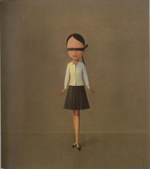 刘野 《黑白灰的构图》 160×140cm 布面油画 2006