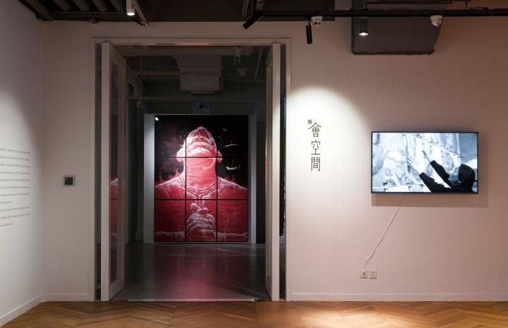 """彼时,会空间正在举办苏新平的展览""""地平线"""""""