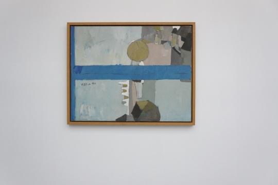 《雨中的街》 940×740cm 布面油画 1981
